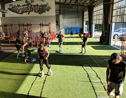 Program inside Prime Sport Performance gym