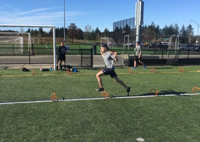 Youth cross training outdoor on turf