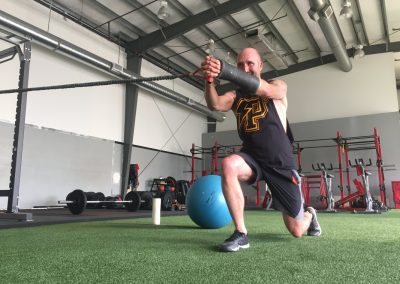 Male athlete resistance core training