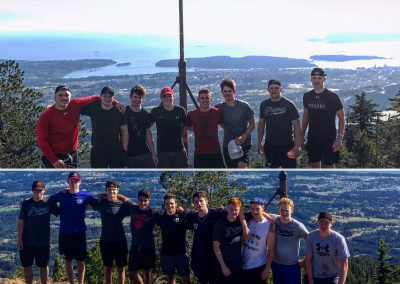 Youth male athletes on Mt. Benson